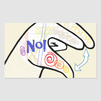 ASL Oh NO Sticker
