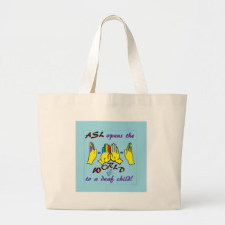 ASL Opens the World Large Tote Bag