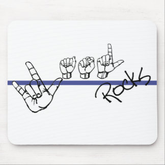 ASL Rocks Mouse pad blk and Blue