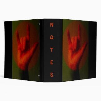 ASL Sign I Love you Vinyl Binders