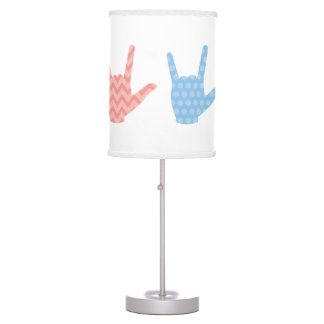ASL Sign Language I Love You Kids Room Table Lamp
