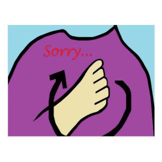 ASL Sorry Postcard