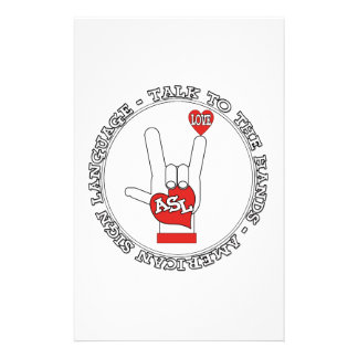 ASL TALK TO THE HANDS SIGN LANGUAGE STATIONERY