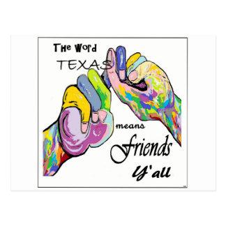 ASL Texas Means Friend Postcard