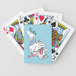 ASL Time for School Bicycle Playing Cards
