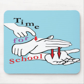 ASL Time for School Mouse Pad