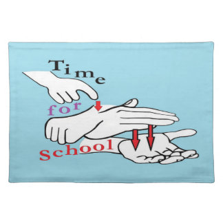 ASL Time for School Placemat