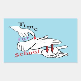 ASL Time for School Sticker