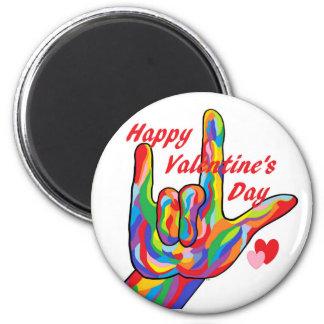 ASL Valentine's Day I Love You Magnet