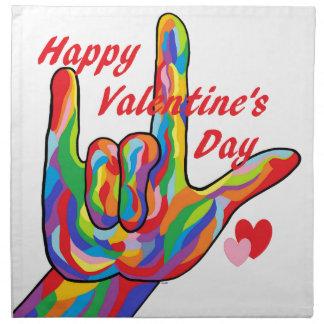 ASL Valentine's Day I Love You Napkin
