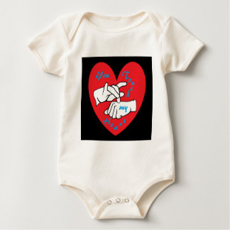 ASL You Touch my Heart Baby Bodysuit