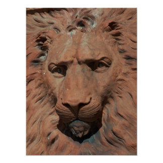 Aslan Lion Carved Stone relief St. Augustine Photo Poster