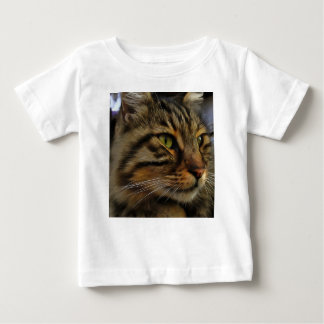 Aslan The Long Haired Tabby Cat Baby T-Shirt