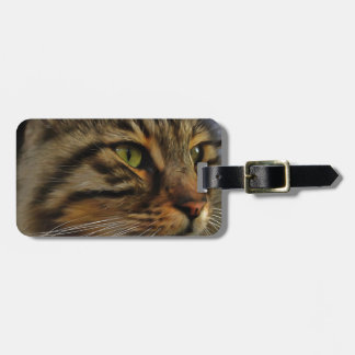 Aslan The Long Haired Tabby Cat Luggage Tag