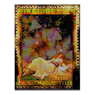 Asleep In The Garden Postcard