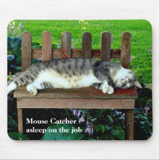 Asleep on the Job Mouse Pad