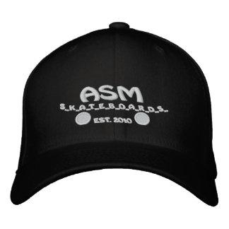 ASM Skateboards Flexfit Logo Hat Embroidered Baseball Caps