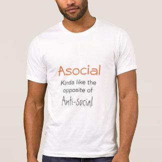 Asocial isn't Antisocial - Introvert Slogan T-Shirt