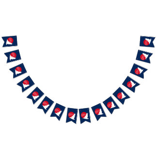 ASP Bunting Flags with Red & White Logo on Blue