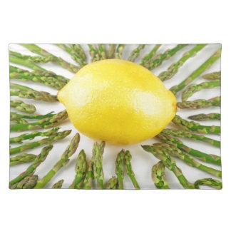 Asparagus towards Lemon Placemat