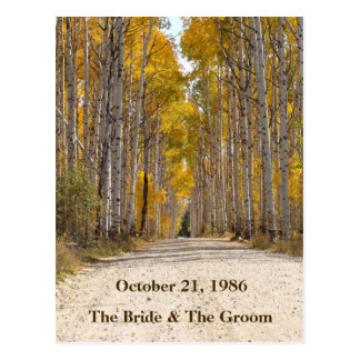 Aspen Alley In Autumn Wedding Postcards