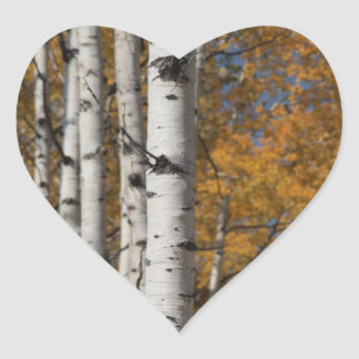 Aspen Alley in Fall Orane Heart Sticker