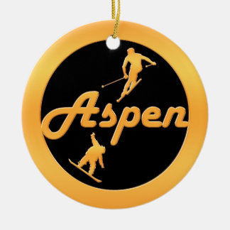 Aspen Ceramic Ornament