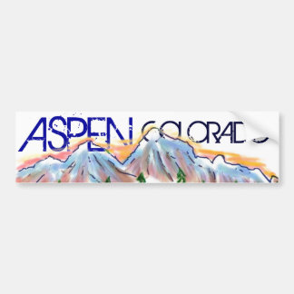 Aspen Colorado artistic mountain sticker