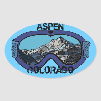 Aspen Colorado blue snow goggles stickers