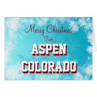 Aspen Colorado Christmas Card