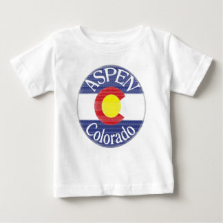Aspen Colorado circle flag baby tee