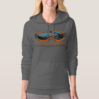 Aspen Colorado orange snow goggle hoodie