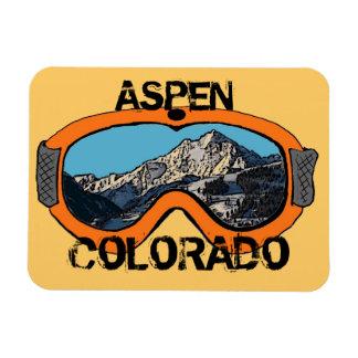 Aspen Colorado orange snow goggles magnet