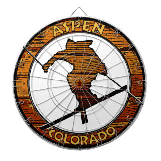 Aspen Colorado wooden skier circle Dartboard