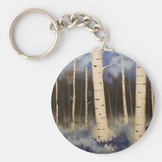 Aspen Grove Basic Round Button Keychain