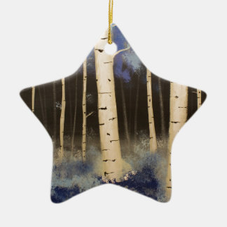 Aspen Grove Ceramic Ornament