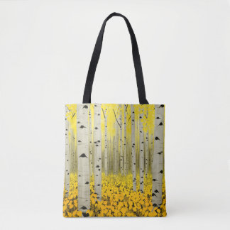 Aspen Grove in Fall Yellow All-Over-Print Tote