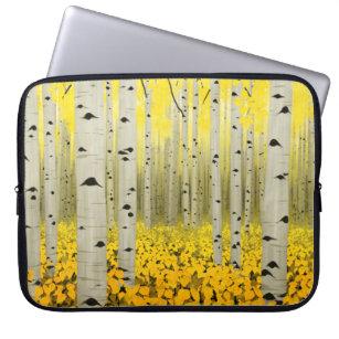 Aspen Grove in Fall Yellow Laptop Sleeve