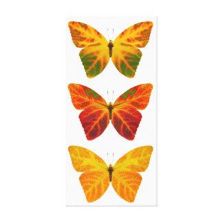 Aspen Leaf Butterflies Canvas Print
