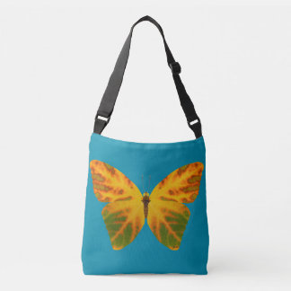 Aspen Leaf Butterfly 1 Crossbody Bag