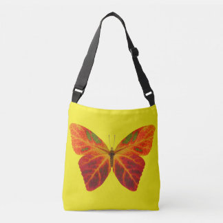 Aspen Leaf Butterfly 2 Crossbody Bag