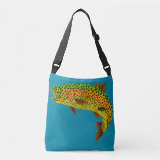 Aspen Leaf Rainbow Trout 1 Crossbody Bag