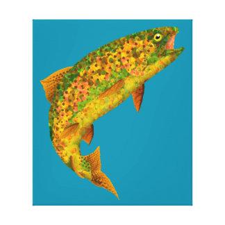 Aspen Leaf Rainbow Trout 2 Canvas Print