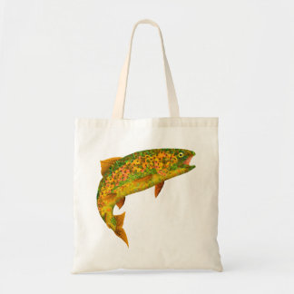 Aspen Leaf Rainbow Trout 2 Tote Bag