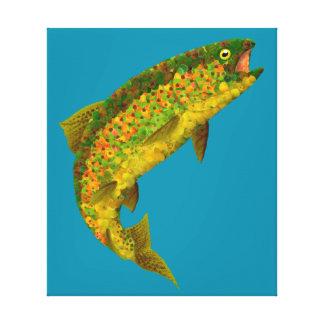 Aspen Leaf Rainbow Trout 3 Canvas Print