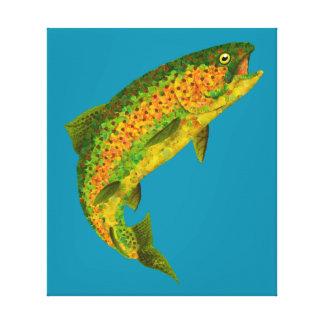 Aspen Leaf Rainbow Trout 4 Canvas Print