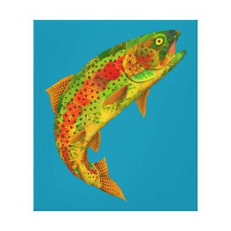 Aspen Leaf Rainbow Trout 5 Canvas Print