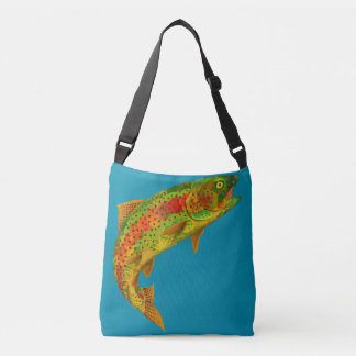 Aspen Leaf Rainbow Trout 5 Crossbody Bag