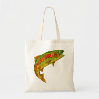 Aspen Leaf Rainbow Trout 5 Tote Bag