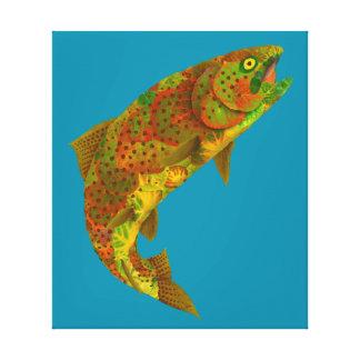 Aspen Leaf Rainbow Trout 6 Canvas Print
